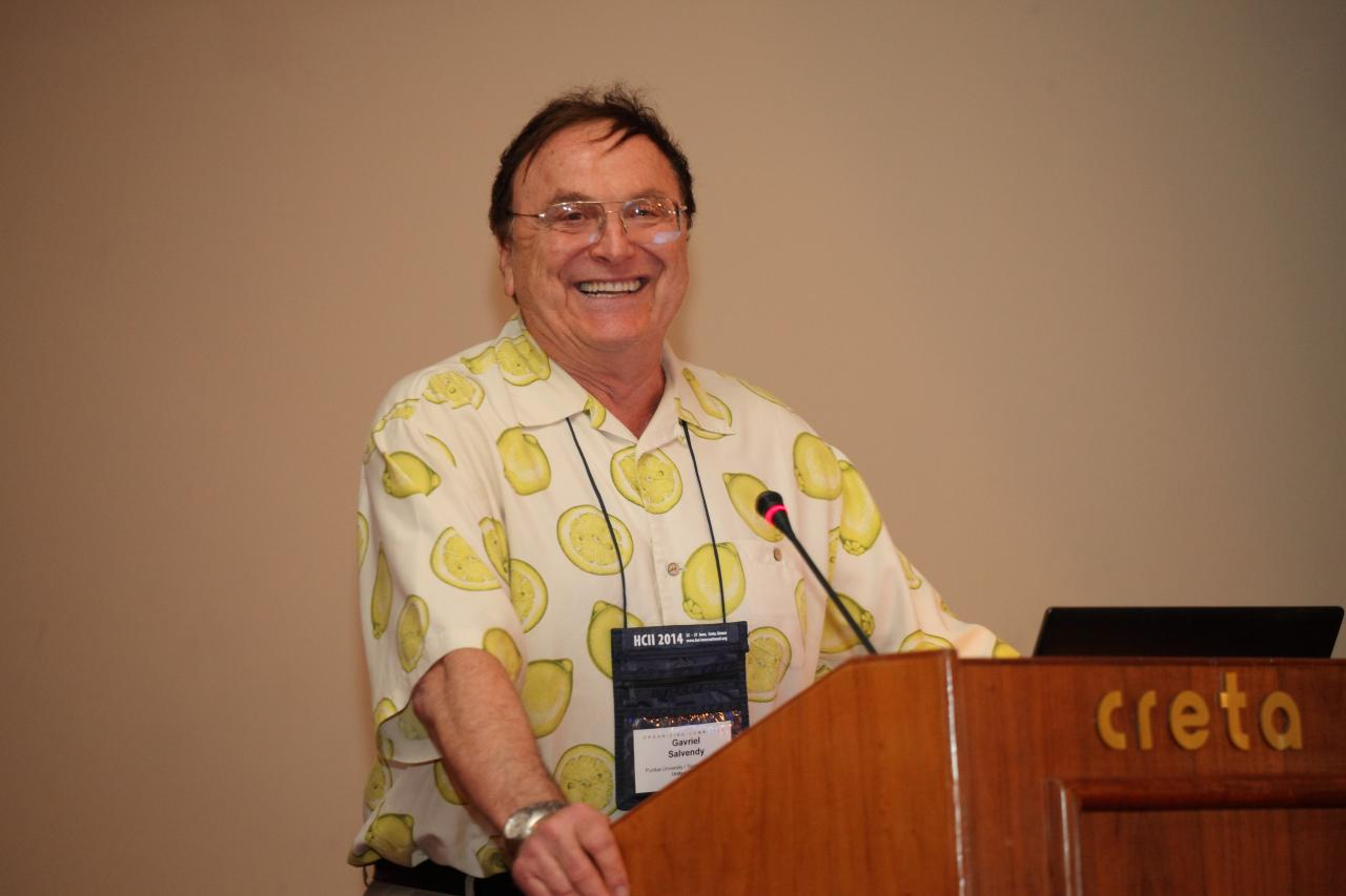 Gavriel Salvendy, Founder of the HCII Conference series, General Chair Emeritus and Scientific Advisor of HCII 2014